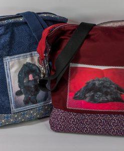customizable bag, personalized bag, cross-body bag, cross body purse, photo purse, photo art, washable bag, handmade bag