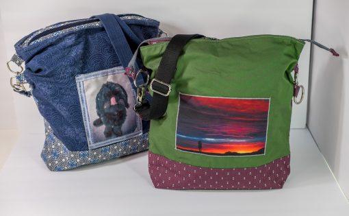 crossbody bag, handmade bag, photobag, customizable bag, customizable purse, photo purse, personalized bag
